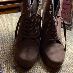 2/$50 Zia suede lace up booties
